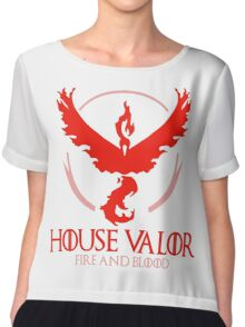 House Valor (GOT + Pokemon GO) Red text Chiffon Top