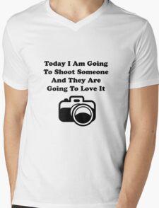 Shoot Someone Camera Mens V-Neck T-Shirt