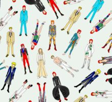 Floating Bowies Pattern Sticker