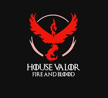 House Valor (GOT + Pokemon GO) White text Unisex T-Shirt