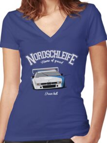 Bmw M1 ProCar Women's Fitted V-Neck T-Shirt