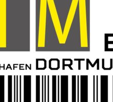 Destination Dortmund Airport Sticker