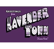 Greetings from Lavender Town Photographic Print