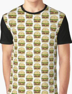 Kawaii Burger Without Background Graphic T-Shirt