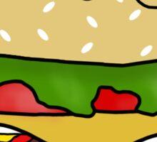 Kawaii Burger Without Background Sticker