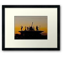Mcbusted on stage Framed Print