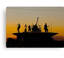 Mcbusted on stage Canvas Print