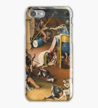 Hieronymus Bosch - The Garden Of Earthly Delights Art Fragment Painting: eden, hell, beauty, adam, retro animals, birds, cool love, trendy gift, celebration, vintage monster, doodle, birthday, fantasy iPhone Case/Skin
