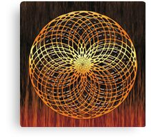 Color Wire Circle Mix Canvas Print