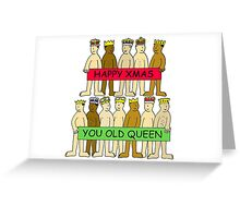 Happy Christmas you old queen. Greeting Card