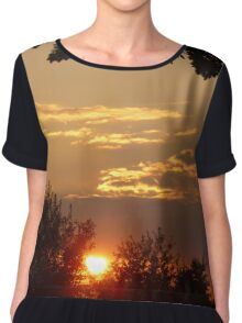 Sunset at Mallory Park, Leicester Chiffon Top