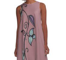 floral doodle A-Line Dress