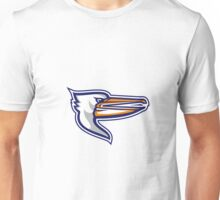 Angry Pelican Head Isolated Retro Unisex T-Shirt