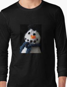 Knitted snowman Long Sleeve T-Shirt