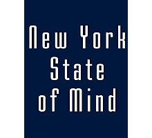 New York State Of Mind - Black Tee Photographic Print