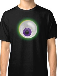 Creepy Glowing Bloodshot 3D Zombie Eyeball Halloween - Eye on Black Classic T-Shirt