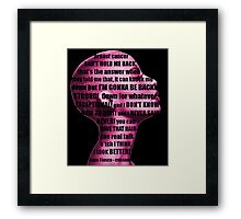 Lupe Fiasco - mission (breast cancer can't hold me back) Framed Print