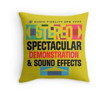 Stereo sound test 60's amazing Album cover Throw Pillow