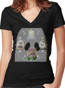 Monster Time! Women's Fitted V-Neck T-Shirt