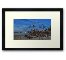 Black Pearl Pirate Ship Framed Print
