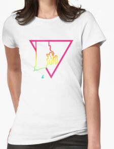 pink triangle rhode island Womens Fitted T-Shirt