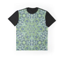 Green Lace Pattern Graphic T-Shirt