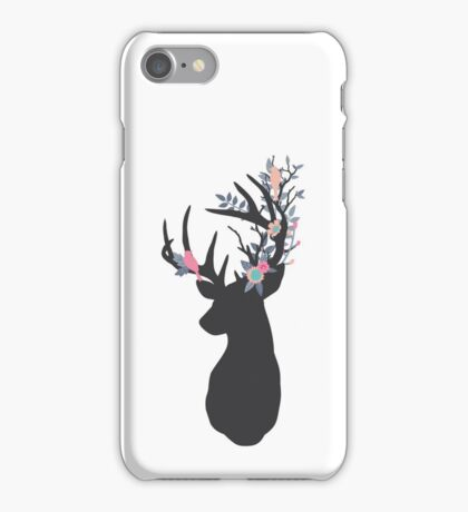 Stag with woodland antlers iPhone Case/Skin