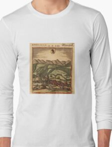 Appenzell Vintage map.Geography Switzerland ,city view,building,political,Lithography,historical fashion,geo design,Cartography,Country,Science,history,urban Long Sleeve T-Shirt