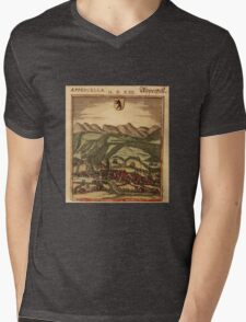 Appenzell Vintage map.Geography Switzerland ,city view,building,political,Lithography,historical fashion,geo design,Cartography,Country,Science,history,urban Mens V-Neck T-Shirt