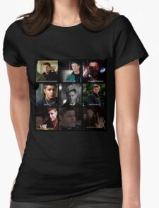 Dean Winchester Quotes Collage #1 Womens Fitted T-Shirt