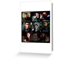 Dean Winchester Quotes Collage #1 Greeting Card