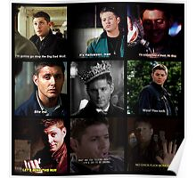 Dean Winchester Quotes Collage #1 Poster