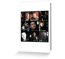 Dean Winchester Quote Collage #2 Greeting Card