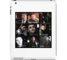 Dean Winchester Quote Collage #2 iPad Case/Skin