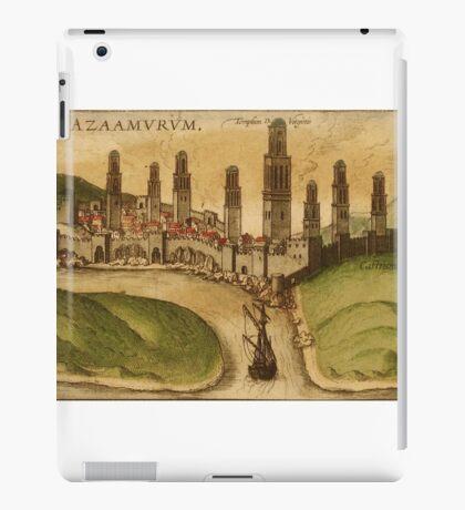 Azemmour Vintage map.Geography Morocco ,city view,building,political,Lithography,historical fashion,geo design,Cartography,Country,Science,history,urban iPad Case/Skin