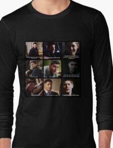 Dean Winchester Quotes Collage #3 Long Sleeve T-Shirt