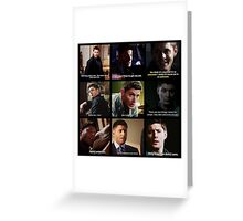 Dean Winchester Quotes Collage #3 Greeting Card