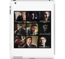Dean Winchester Quotes Collage #3 iPad Case/Skin