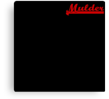 Mulder [Small #2] Canvas Print