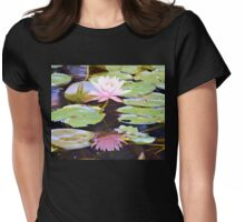 Reflection Of A Water Lily Womens Fitted T-Shirt