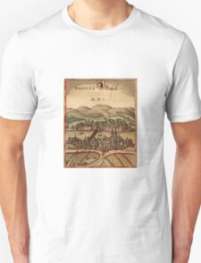 Basel Vintage map.Geography Switzerland ,city view,building,political,Lithography,historical fashion,geo design,Cartography,Country,Science,history,urban Unisex T-Shirt