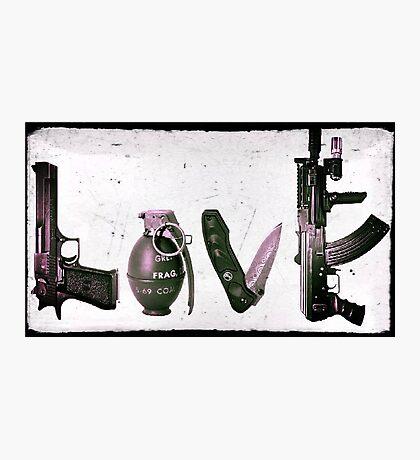 'LOVE' GUNS  Photographic Print