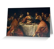Last Supper by Valentin de Boulogne Greeting Card