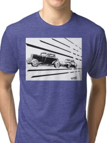 1932 Ford and 1941 Willys HotRods - Pen and Ink Tri-blend T-Shirt