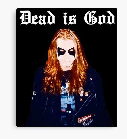 Dead is God, Mayhem Death Metal Canvas Print