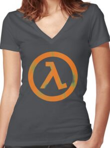 Half Life Women's Fitted V-Neck T-Shirt
