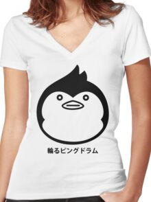 Mawaru Penguindrum Silhouette Women's Fitted V-Neck T-Shirt