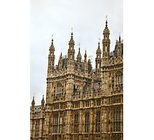 Architectural Details on Westminster Palace Photographic Print