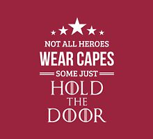 Not All Heroes Wear Capes, Some Just Hold the Door in Pink Long Sleeve T-Shirt