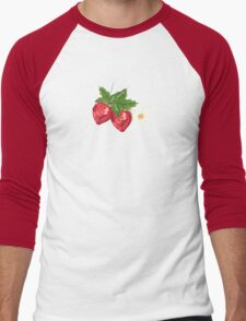 Strawberry Botanical Men's Baseball ¾ T-Shirt